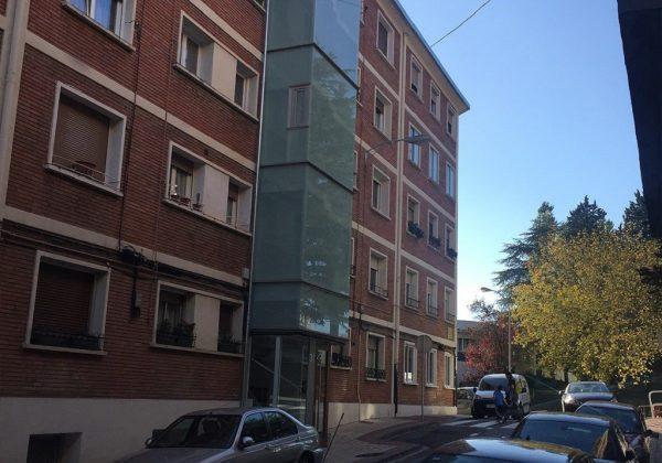 ascensores en fachada